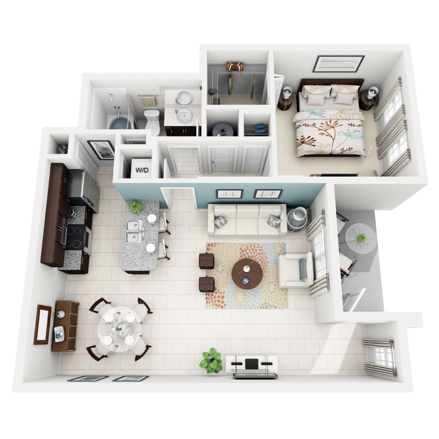 Rendering of BURGUNDY floor plan